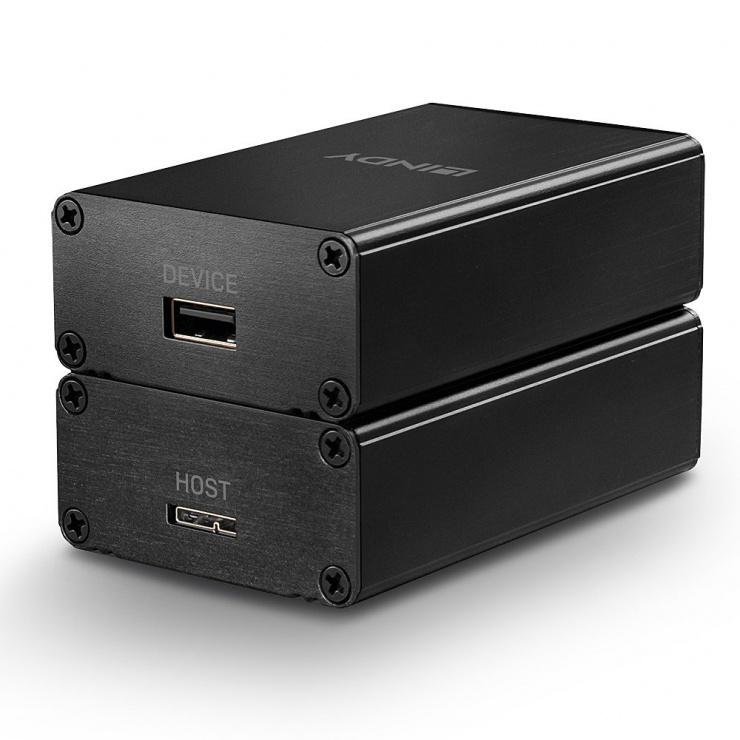 Imagine Extender USB 3.0 prin Fibra Optica 350m, Lindy L42708
