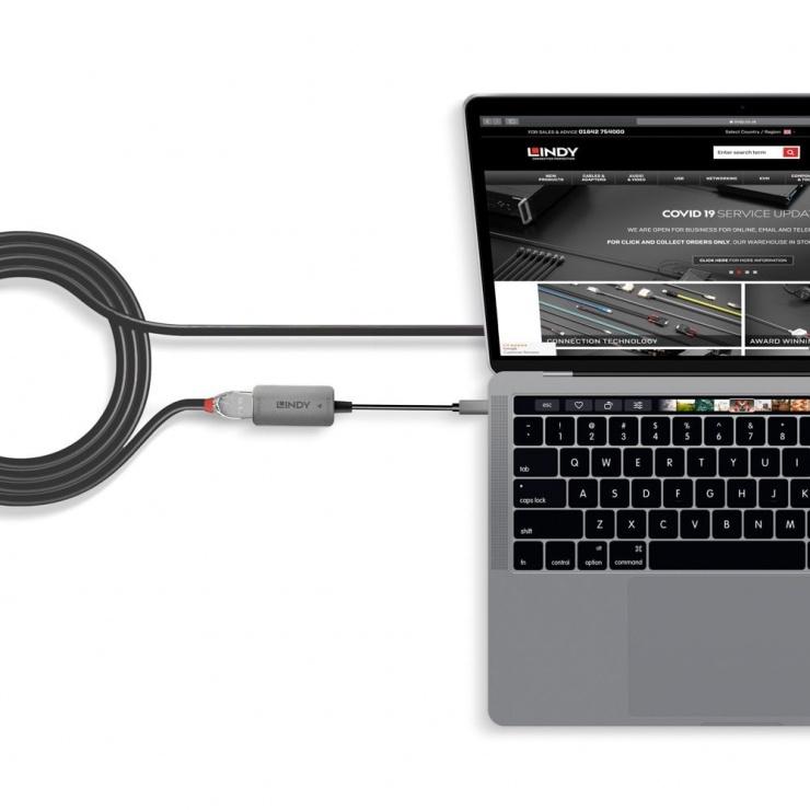Imagine Adaptor USB 3.1 Type C la HDMI 4K@60Hz T-M, Lindy L43287