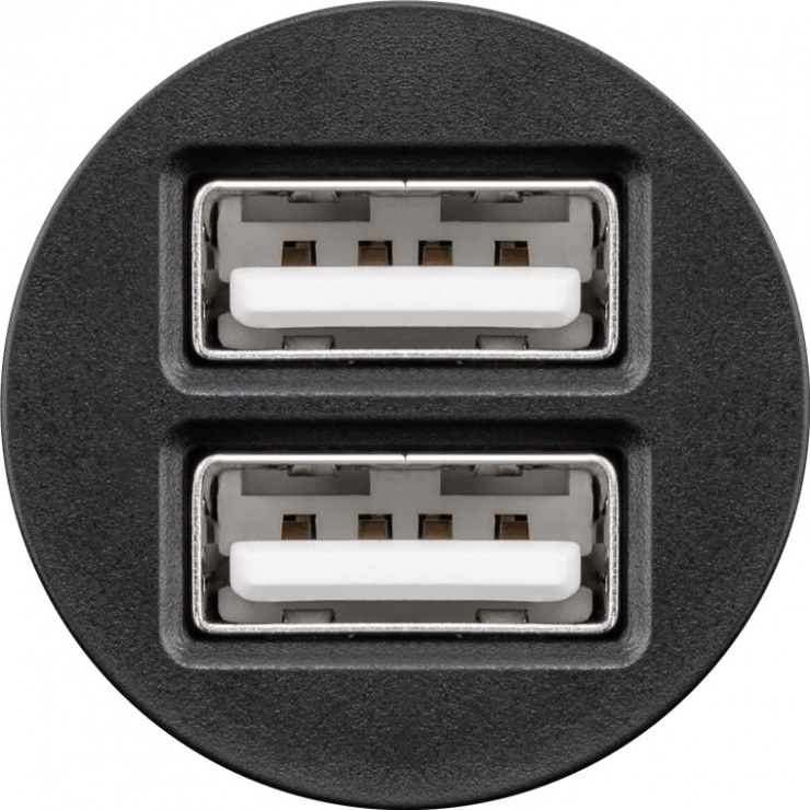 Imagine Incarcator auto cu 2 x USB 2.1A, Goobay 44177
