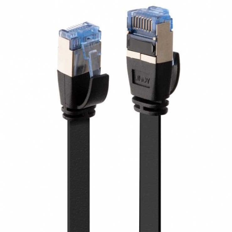 Imagine Cablu de retea RJ45 Cat.6A U/FTP Flat 10m Negru, Lindy L47485