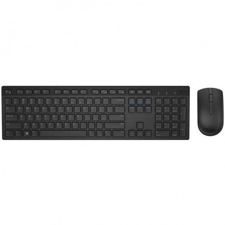 Imagine Kit tastatura + mouse wireless KM636 Negru, Dell 580-ADFT