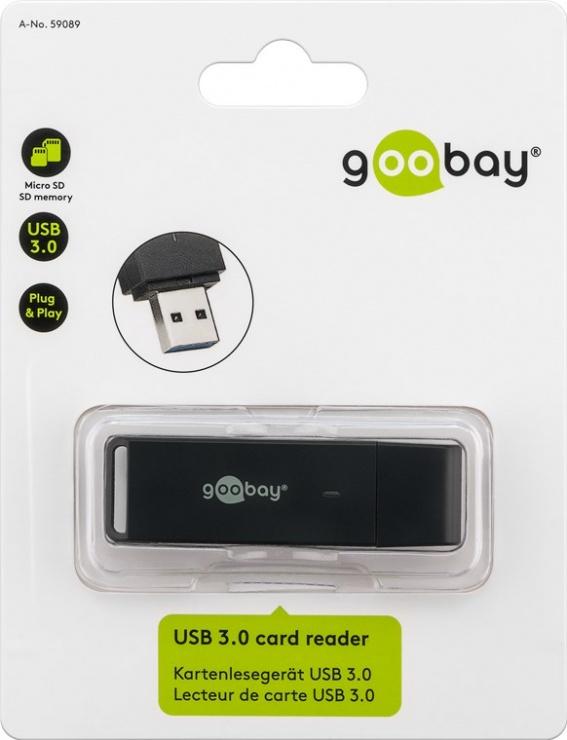 Imagine Cititor de carduri USB 3.0 la micro SD/SD, Goobay W59089