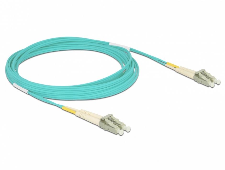 Imagine Cablu fibra optica LC- LC Multi-mode OM3 5m, Delock 86561