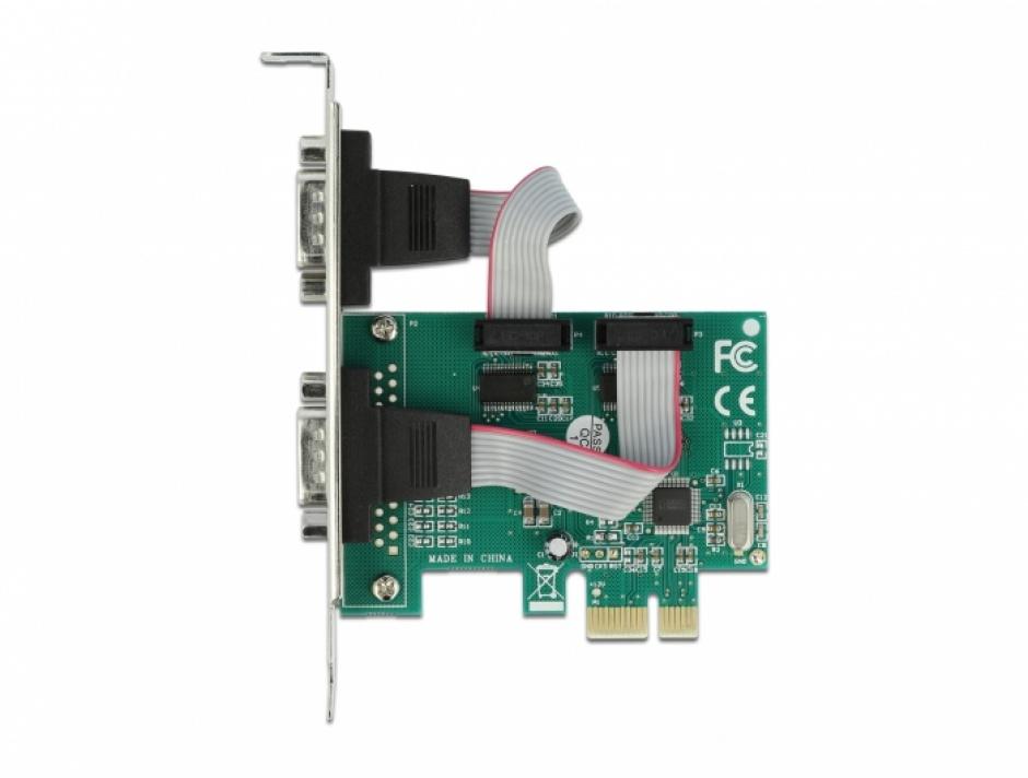 Imagine PCI Express la 2 x Serial RS-232, Delock 90007