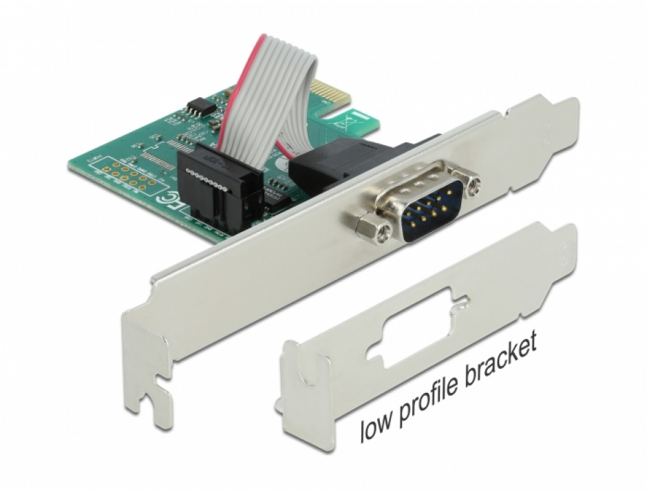 Imagine PCI Express la 1 x Serial RS-232, Delock 90006