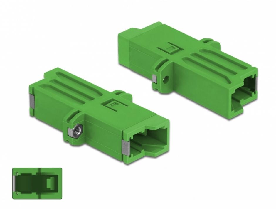 Imagine Cupla fibra optica E2000 Simplex M-M Single-mode Verde, Delock 86944