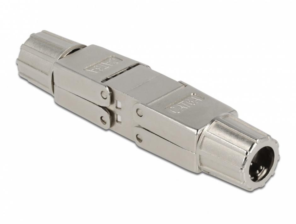 Imagine Cupla pentru cablu de retea Cat.6A STP toolfree, Delock 86976