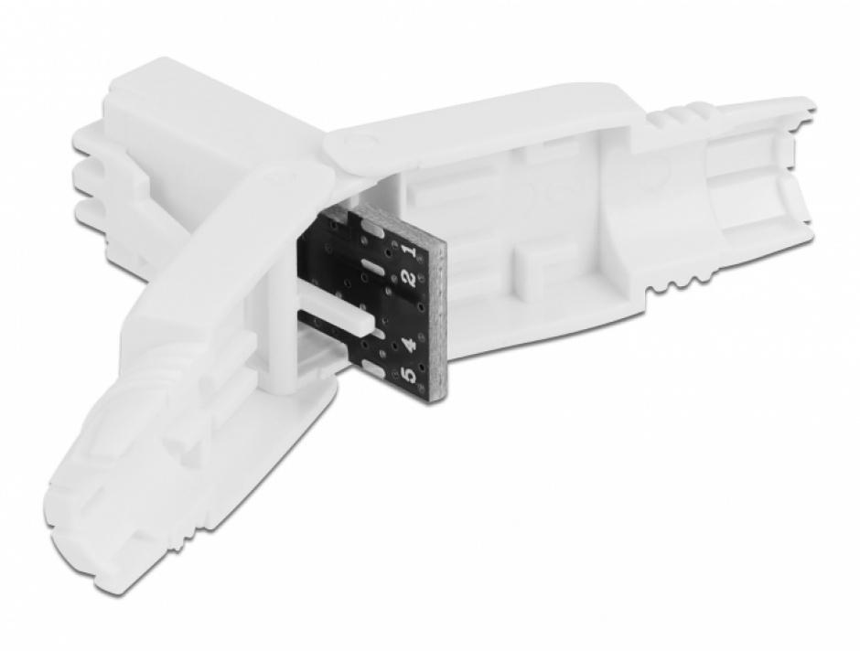 Imagine Conector de retea RJ45 Cat.6 UTP toolfree, Delock 86977