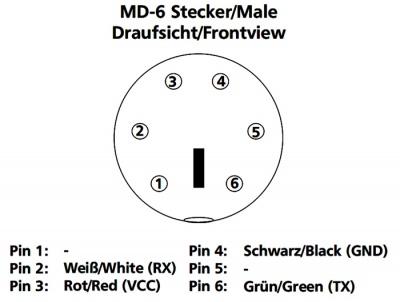 Imagine Cablu USB la Serial MD6 T-M, Delock 62405-1