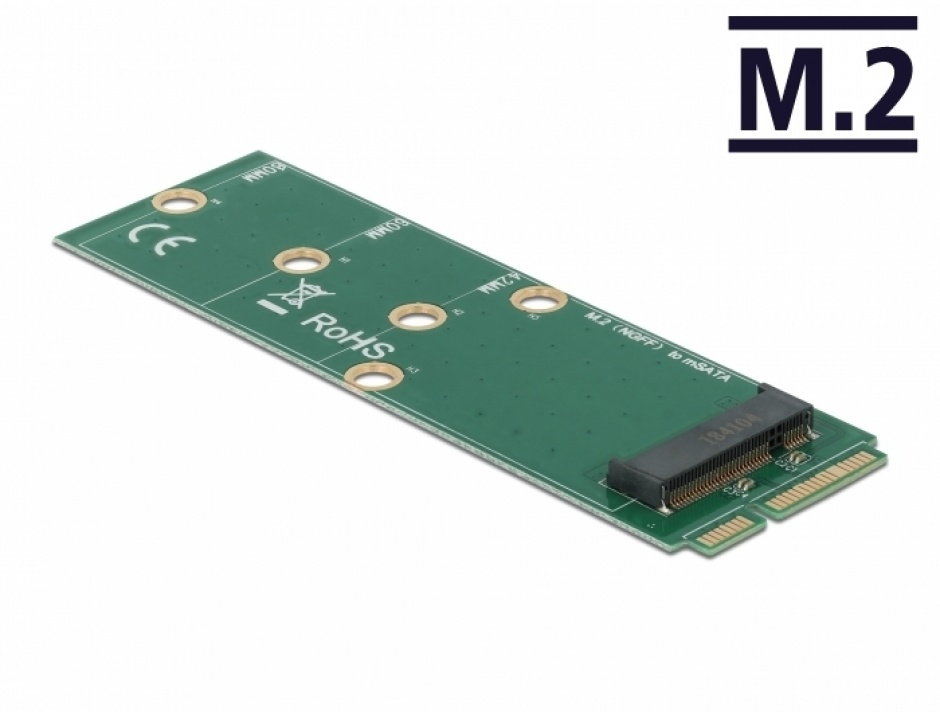 Imagine Adaptor mSATA la M.2 Key B slot, Delock 64109