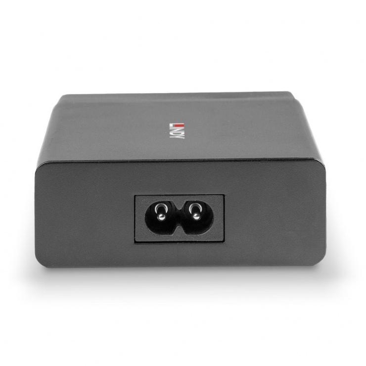 Imagine Incarcator priza cu 3 x USB-A + 1 x USB type C cu PD 72W, Lindy L73329