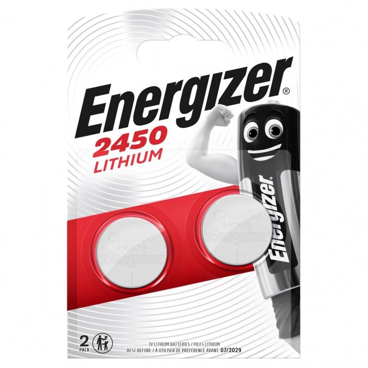 Imagine Set 2 baterii CR2450, Energizer 638179