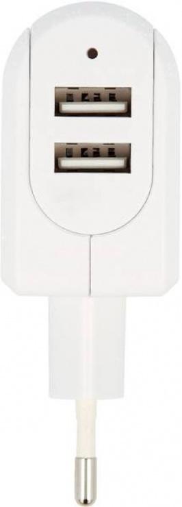 Imagine Incarcator priza cu 2 x USB 3.4A, Skross PSUP-USB-W234WE-SKRS