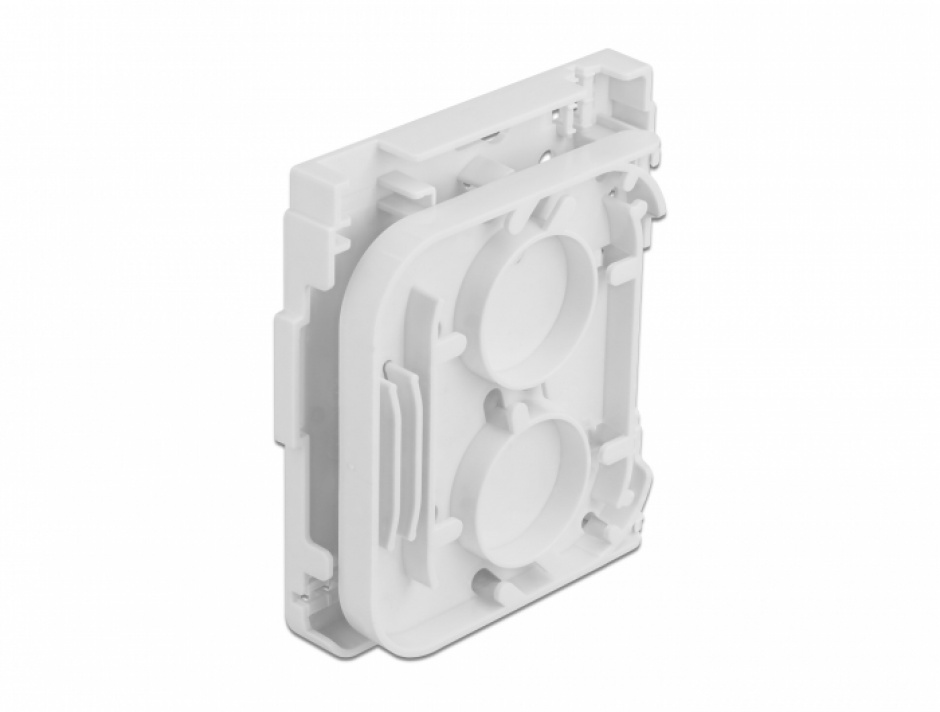 Imagine Cutie pentru 1 x cupla fibra optica SC Simplex / LC Duplex Alba, Delock 86844