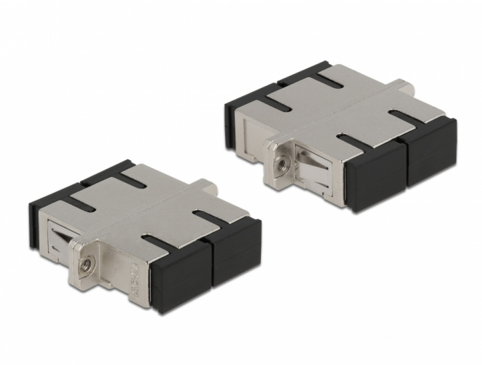 Imagine Cupla fibra optica SC Duplex - SC Duplex Single M-M mode metal, Delock 86873