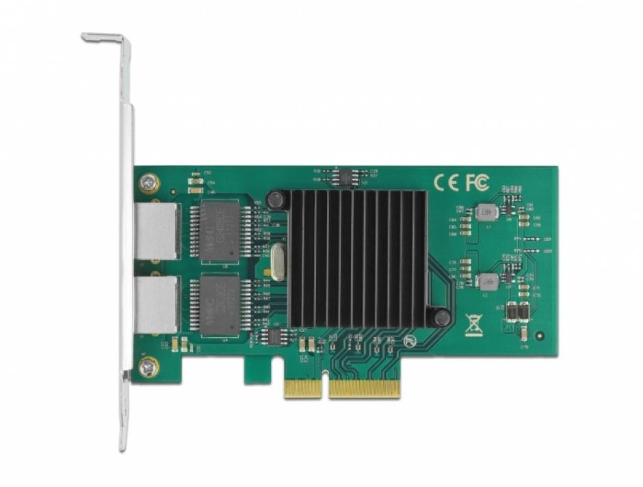 Imagine Placa PCI Express la 2 x Gigabit LAN Intel 82576, Delock 89021