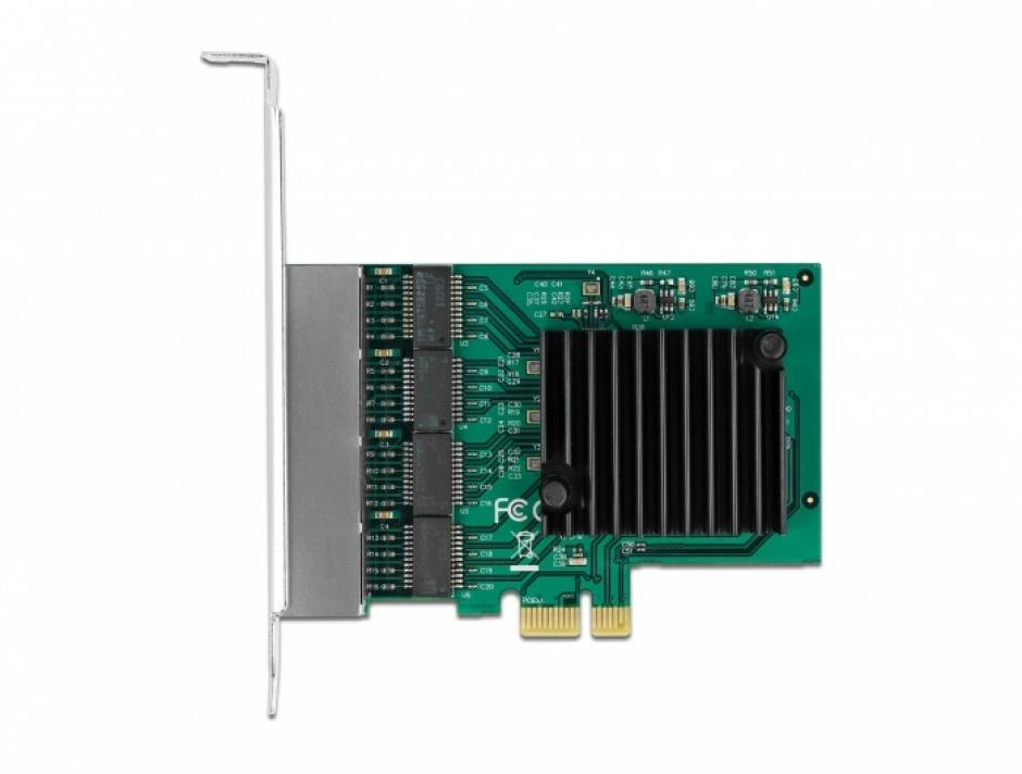 Imagine Placa PCI Express la 4 x Gigabit LAN RTL8111F, Delock 89025