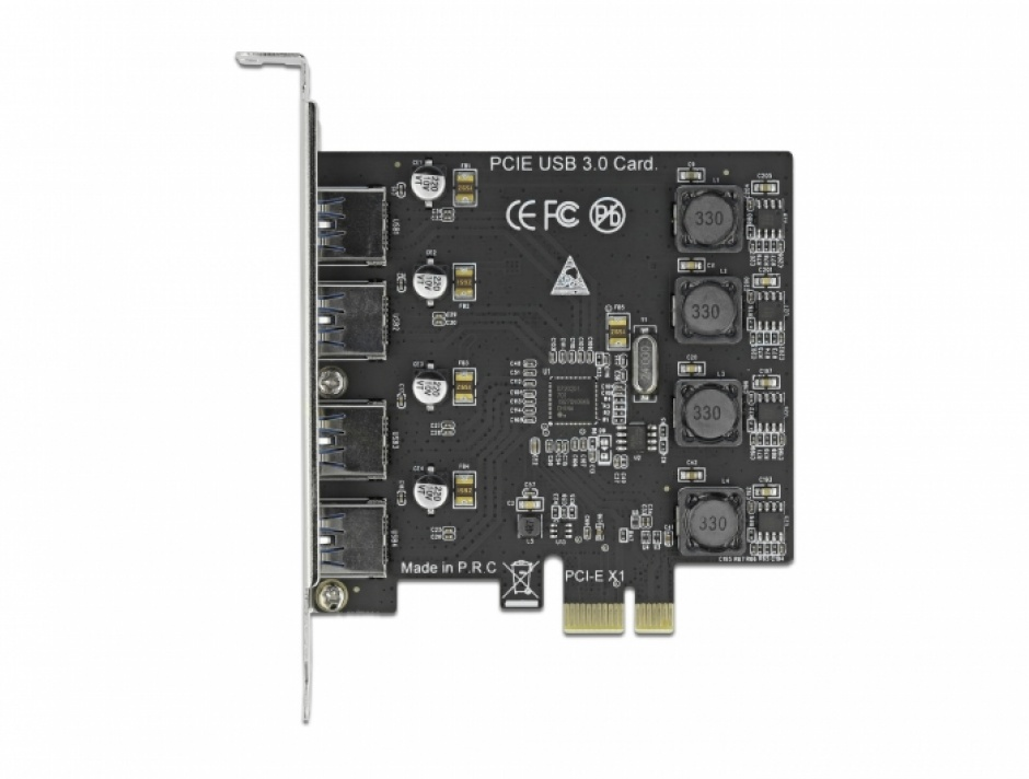 Imagine PCI Express x1 cu 4 x USB 3.2-A Gen 1, Delock 90509