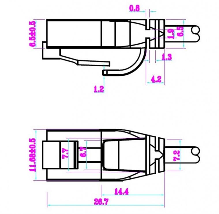 Imagine Cablu de retea RJ45 UTP cat 6 Slim 15m Gri, Goobay 93735