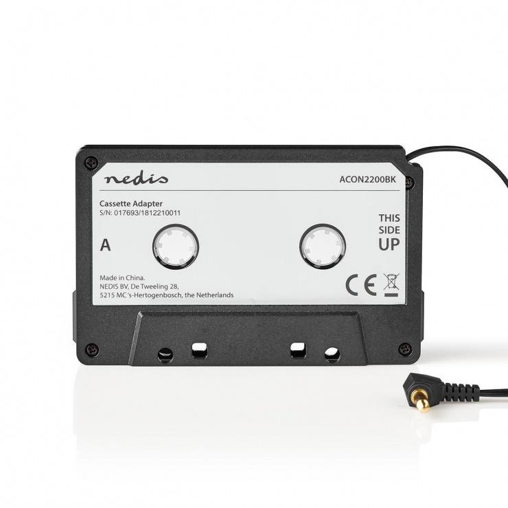 Imagine Adaptor caseta la jack 3.5mm, Nedis ACON2200BK