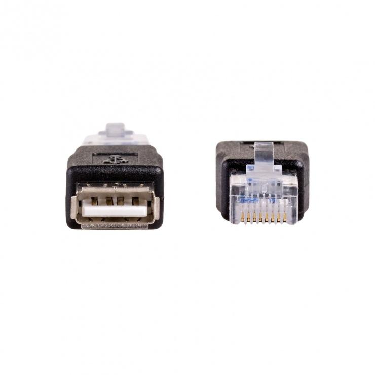 Imagine Adaptor pentru modem USB 2.0 la RJ45 M-T, AK-AD-27
