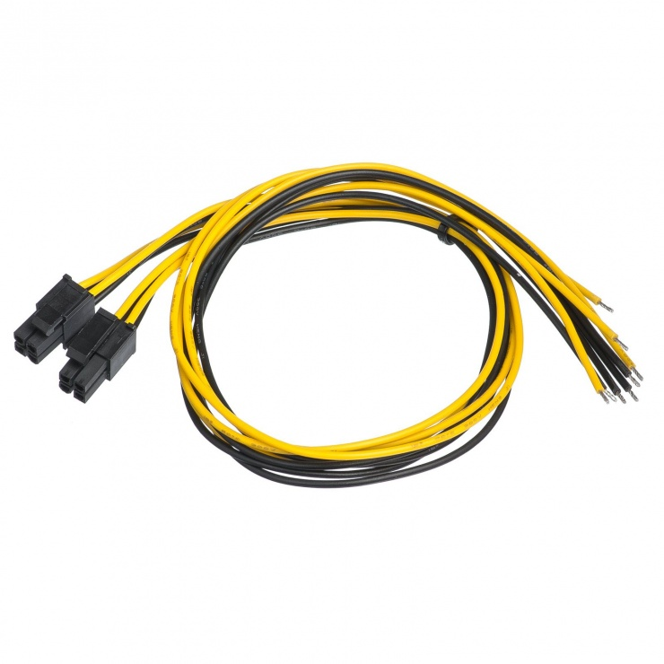 Imagine Cablu de alimentare EPS 8 pini la fire deschise 45cm, AK-SC-22