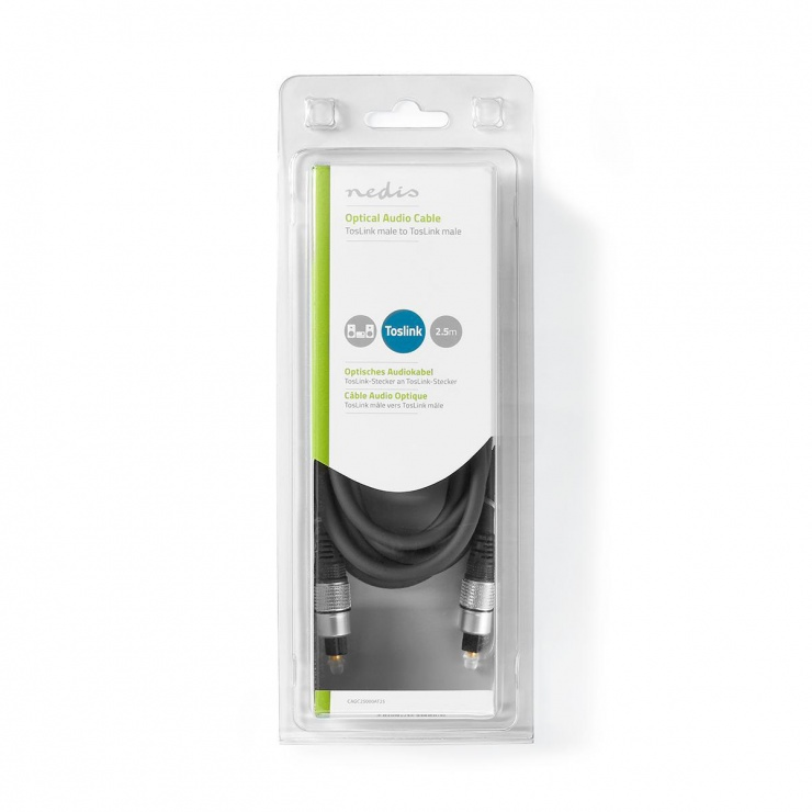 Imagine Cablu audio optic Toslink SPDIF 2.5m, Nedis CAGC25000AT25