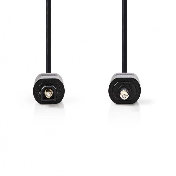 Imagine Cablu audio optic mini Toslink la Toslink SPDIF 3m, Nedis CAGP25100BK30