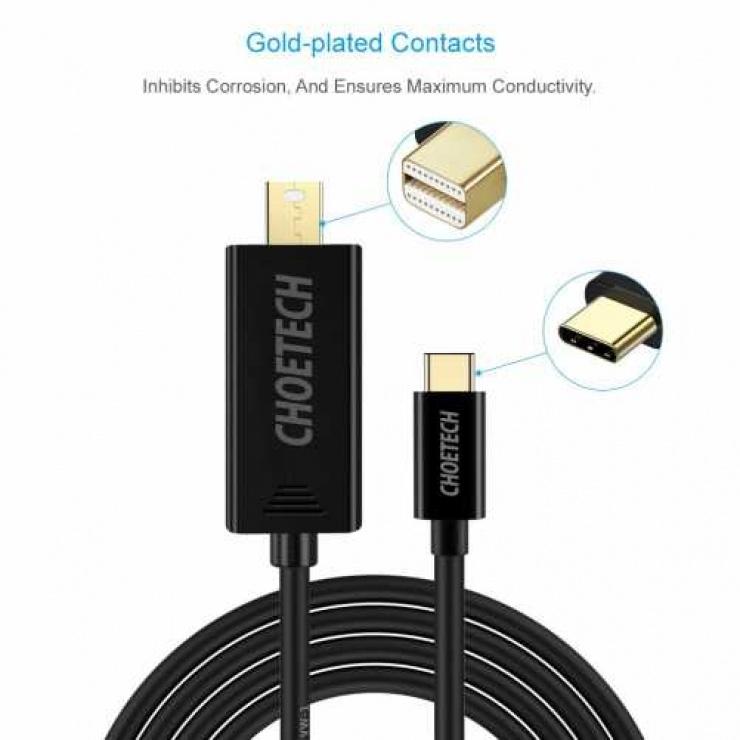 Imagine Cablu USB type C la Mini Displayport 4K@60Hz T-T 1.5m, CABLE-USBC/MDP-XCM1501/1.5-CHO