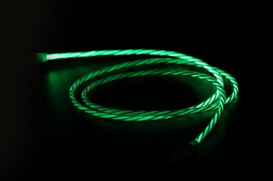 Imagine Cablu USB 2.0 la USB type C LED light effect 1m. Gembird CC-USB-CMLED-1M
