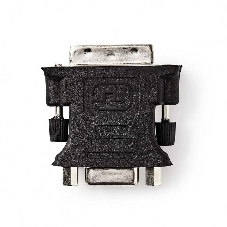 Imagine Adaptor DVI-I Dual Link 24+5 pini la VGA T-M, Nedis CCGP32900BK