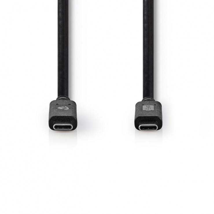 Imagine Cablu USB 3.2-C Gen 2 T-T 100W 1m Negru, Nedis CCGW64750BK10