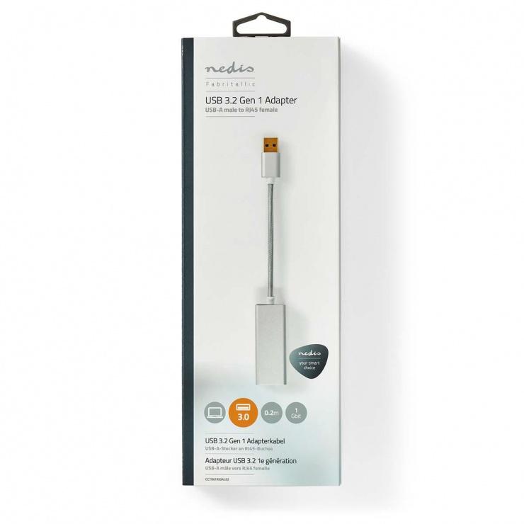 Imagine Adaptor USB 3.2-A Gen 1 la Gigabit LAN, Nedis CCTB61950AL02