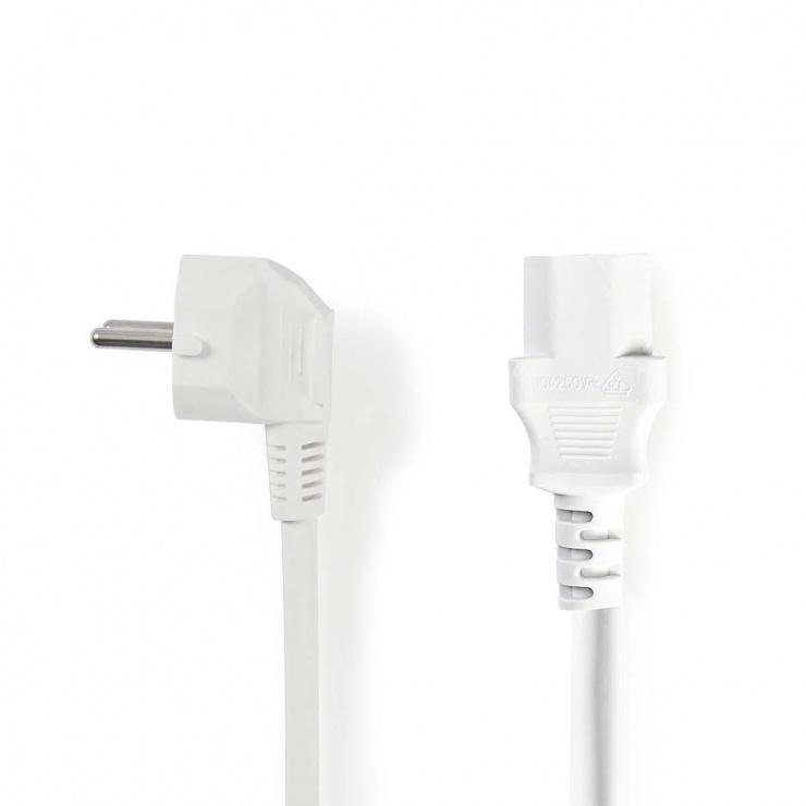 Imagine Cablu de alimentare Schuko la IEC C13 10m Alb, Nedis CEGP10000WT100