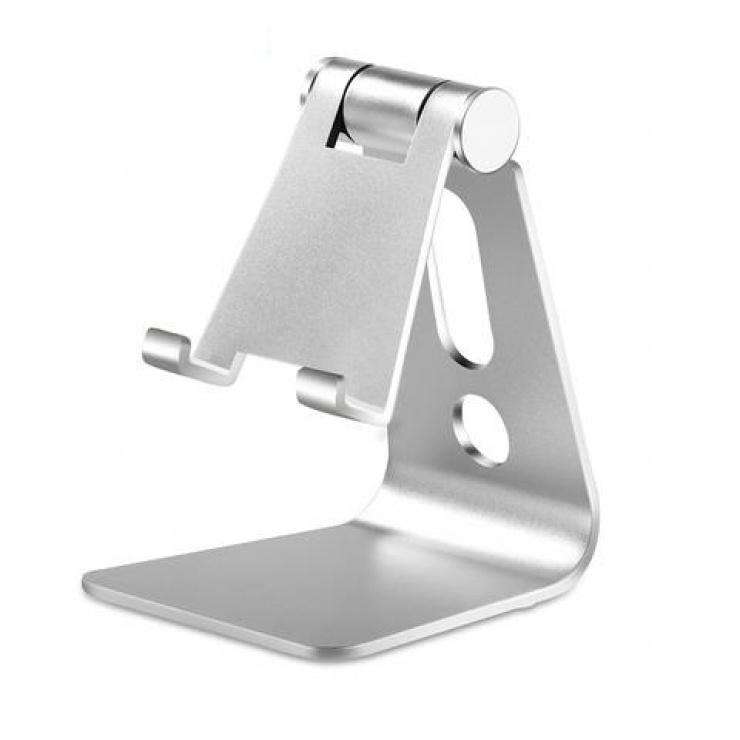 """Imagine Suport birou pentru smartphone/tableta 3.5"""" -8.4"""" Aluminiu Argintiu, CP00032"""