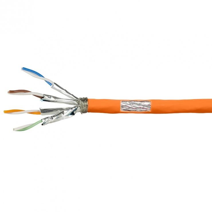 Imagine Rola cablu de retea RJ45 Cat.7 SFTP 100m Orange, Logilink CPV0060