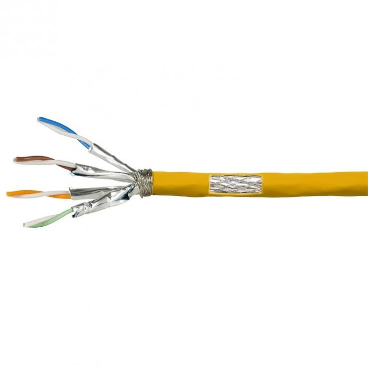 Imagine Rola cablu de retea RJ45 Cat.7A S / FTP 50m Galben, Logilink CPV0069