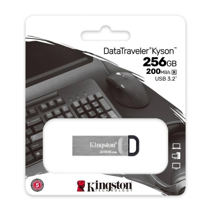 Imagine Stick USB 3.2 DataTraveler Kyson 256GB Metalic, Kingston DTKN/256GB