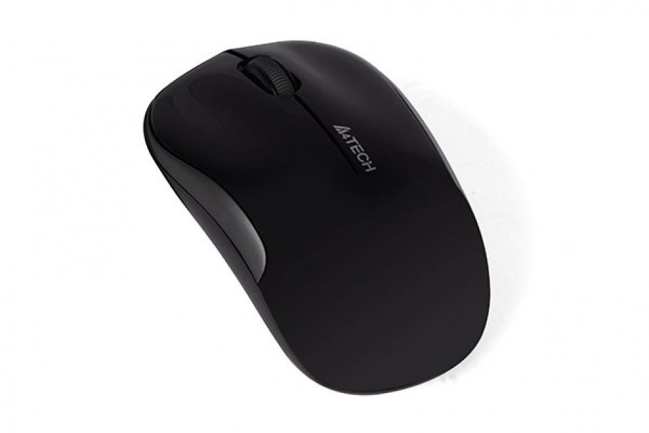 Imagine Mouse wireless optic A4Tech Negru, G3-300N-BK (include timbru verde 0.1 lei)