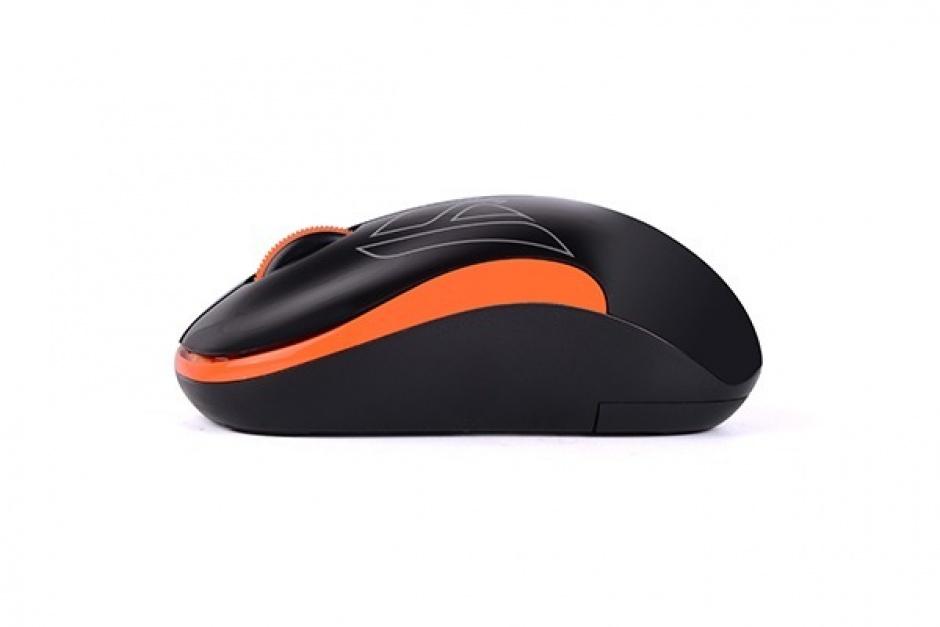 Imagine Mouse wireless optic A4Tech Negru/Orange, G3-300N-BO (include timbru verde 0.1 lei)