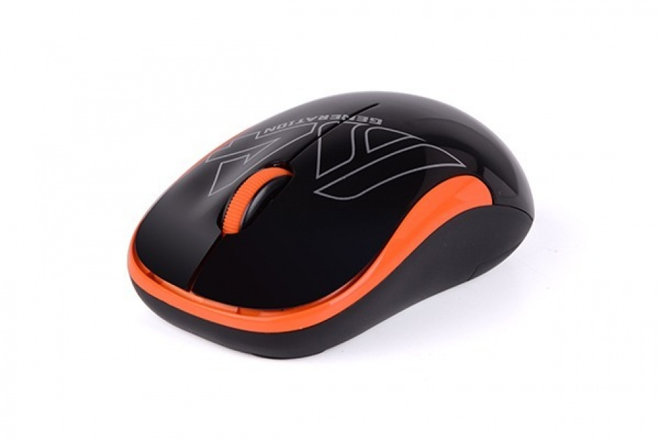 Imagine Mouse wireless optic A4Tech Negru/Orange, G3-300N-BO (include timbru verde 0.1 lei)