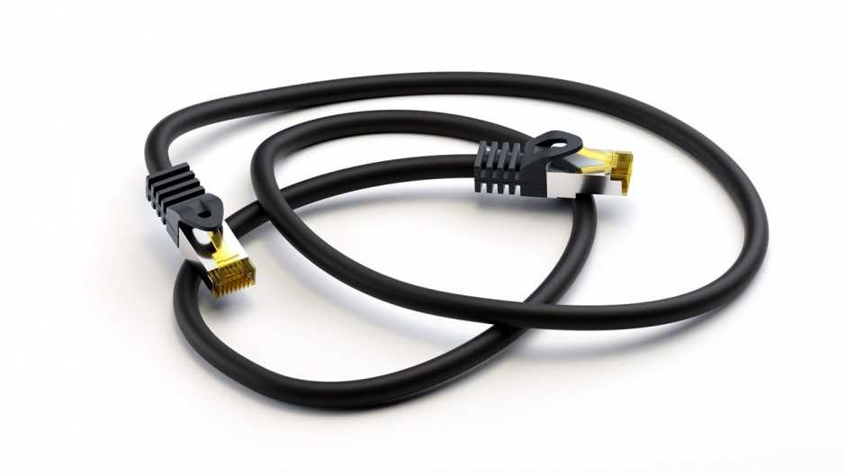 Imagine Cablu de retea RJ45 CAT 6A S/FTP (PiMF) cu cablu CAT 7 Negru 30m, Goobay 91680