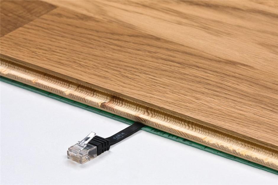 Imagine Cablu de retea RJ45 CAT 6A flat UTP 2m Maro inchis, Goobay 96326