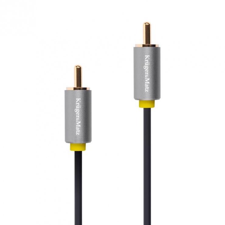 Imagine Cablu audio/video RCA la RCA T-T 1.8m, KM1202