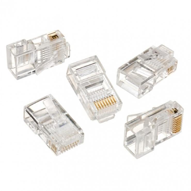 Imagine Set 100 conectori RJ45 cat 5 UTP, Gembird LC-8P8C-001/100