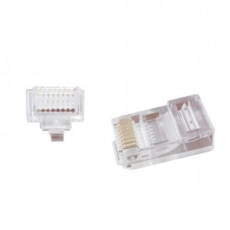 Imagine Set 100 conectori RJ45 UTP cat 5e, Gembird LC-PTU-01/100