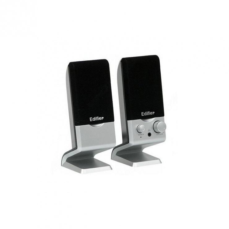 Imagine Boxe 2.0 2 x 0.6W USB Negru-Silver, Edifier M1250