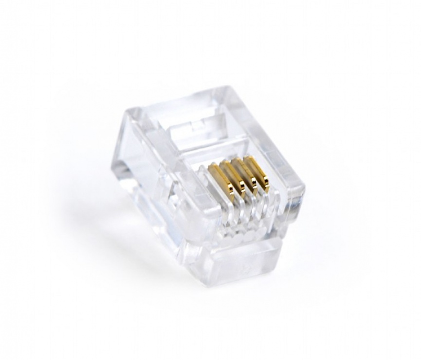 Imagine Set 100 conectori RJ11 6p4c, Gembird MP-6P4C/100