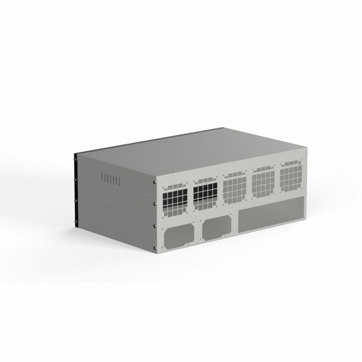 Imagine Suport pentru minat 9 GPU / 2 PSU / 4 USB 3.0 rig Negru, AKM091