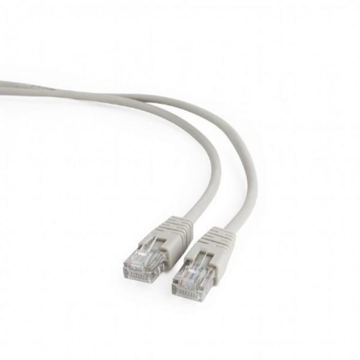 Imagine Cablu retea UTP cat 5E 1.5m Gri, Gembird PP12-1.5M